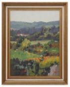James Fry (Brit., 1911-1985) 'Summer landscape', oil on board