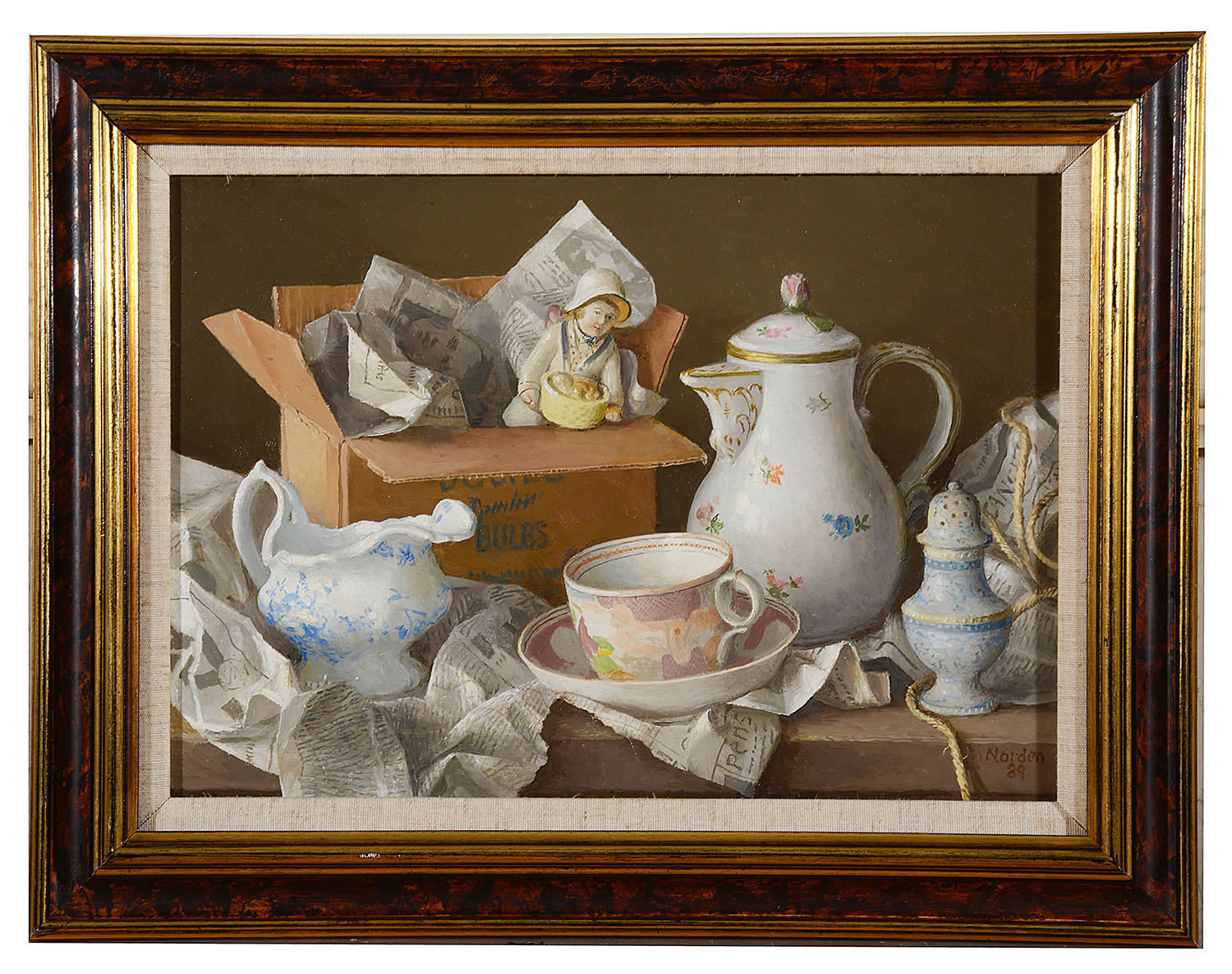 Lot 51 - Gerald Norden (1912-2000) 'New acquisitions', oil on board