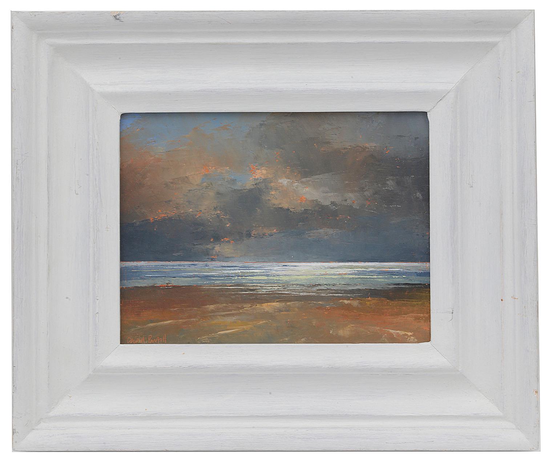 Lot 57 - David Parfitt RI (Brit., 1943) 'Late Evening light, Somerset Coast', oil on board