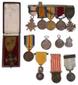 W.W.I British and French campaign and other medals, a collection