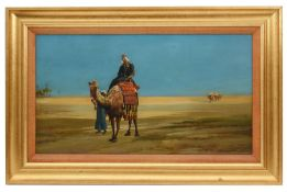 G. C. Post 'A Caravan Crossing the desert', oil on canvas, signed and dated 1905
