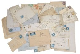 An interesting collection of French postal history, early French covers and related items
