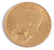 A George V full sovereign, 1912