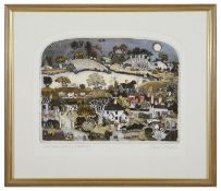 Graham Clarke (British., b. 1941) 'Our Golden Vale', etchings with aquatint