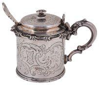 An early Victorian silver mustard pot