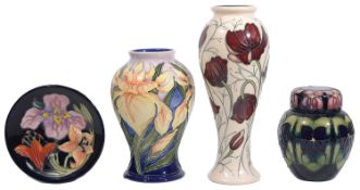 Four pieces of modern Moorcroft pottery