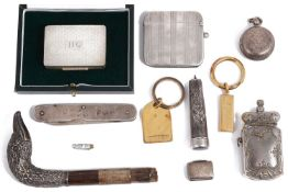 A selection of small silver and other items
