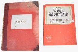 Military Interest. Scrap book albums; Lieut-Col. Hugh Stoneham O.B.E
