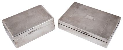 Two silver table cigarette boxes