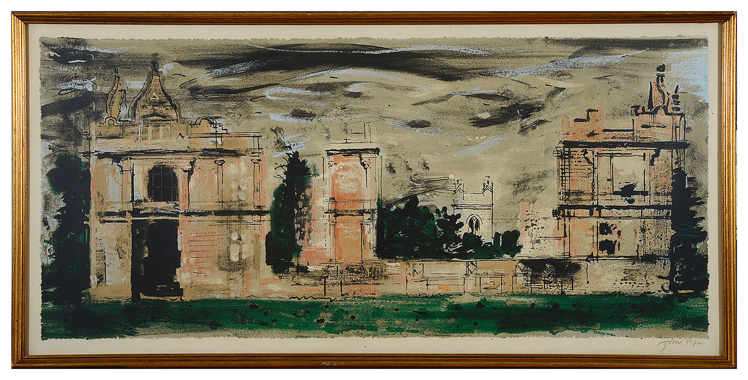 Lot 52 - John Piper (1903-1992) 'Moreton Corbet' lithograph signed in pencil and numbered 31/70, framed