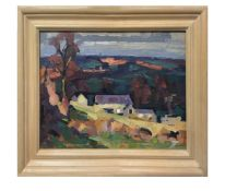 James Fry (Brit., 1911-1985) 'Distant Summer View',oil on canvas board