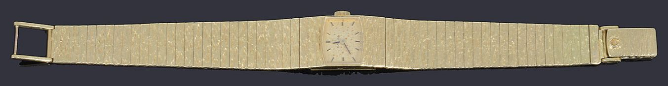 A ladies' 18ct gold Omega mechanical bracelet watch, c.1960,