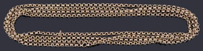 A Victorian gold belcher watch chain,