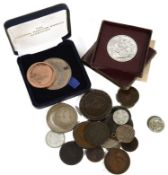 A collection of mostly 19th century and later British silver coins