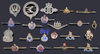 A collection of regimental badges