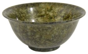 A Chinese spinach green jade bowl