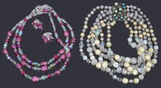 Two costume bead necklaces