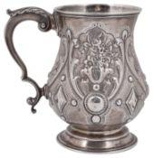 An early Victorian silver tankard