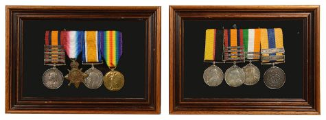 Two late 19th/early 20th c. four medal groups to include Boer war medals