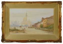 Edwin St John (Brit. 1868-1961) 'Cairo' and 'A Mosque, Cairo', watercolour, signed