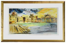 John Piper (Brit. 1903-1992' 'Blenheim Palace', lithograph 39/100 signed