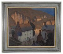 Philip Needell (Brit. 1886-1974) 'Cadgwith, Cornwall' oil on canvas, signed lower left