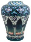 A large contemporary Moorcroft Meknes pattern vase designed by Beverley Wilkes