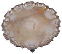 A George V silver salver in George III style