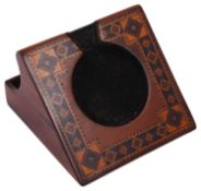 A Victorian Tunbridgeware rosewood pocket watch stand
