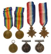 Two WWI medal groups awarded to 14213 DVR. H.W.H. Emblin. R.A. and 118299 PNR. H. Emblen. R.E