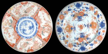 Two late 19th Century Japanese Imari chargers