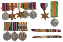 Three World War II medal groups