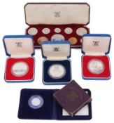 A small collection of commemorative silver and other proof coins