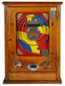An Art Deco 1930s 'Playball' amusement pinball coin repeat machine