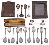 20th c. silver to include two small rectangular photograph frames and Yard O Led pencil