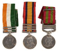 A three medal India and Boer war medal group awarded to 4481 Pte Joseph Downey Highland