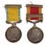 A Victorian two medal Baltic and Second China War medal group awarded to Daniel Downey