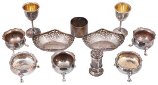 A selection of Victorian and Edwardian silver items
