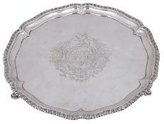 An early George III silver salver