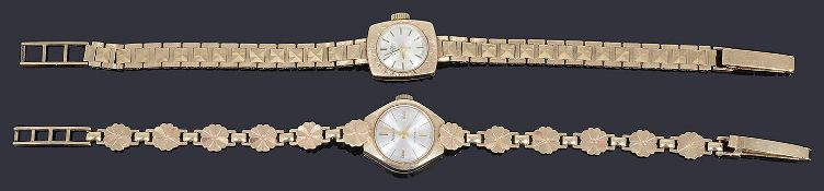 Ladies 9ct gold Bentina and 9ct gold Accurist mechanical bracelet watches