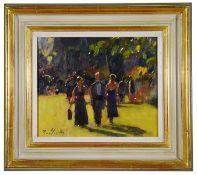 Bruce Yardley (Brit. b.1962) 'Midi, Maxi, Glyndebourne' oil on canvas