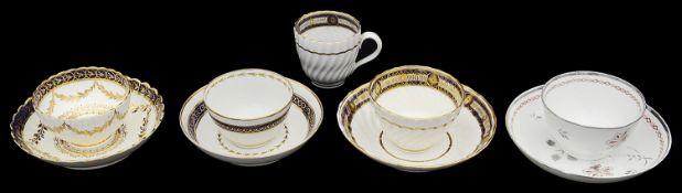 Four late 18th century tea bowls