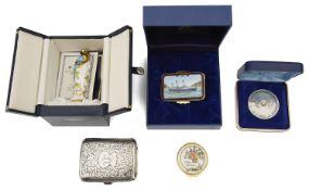 A collection of Halcyon Days boxed enamels