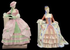 Two pre-war Royal Doulton porcelain figures