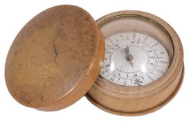 An early 19th century pocket compass