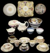 A collection of mostly early 19th century ceramics