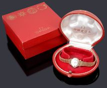 A 9ct gold ladies Omega mechanical bracelet watch