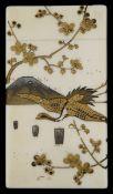 A 19th century Japanese ivory shibayama card case