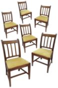 A set of six George III mahogany mahogany dining chairs