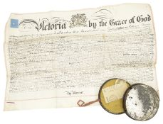 Victorian Letters Patent with Great Seal